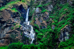 Tropical mountain landscape waterfall Stock Images