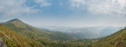 Tropical Mountain in panorama Royalty Free Stock Photo