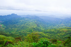 Tropical mountain range Stock Photos