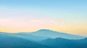 Tropical Mountain Range Royalty Free Stock Photos