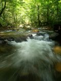 Tropical Mountain Waterfall. A view of the tropical mountain waterfall and river stream in Asia Stock Photography