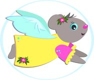 Tropical Mouse Angel Stock Photo