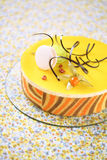 Tropical Mousse Cake (Charlotte) Royalty Free Stock Photography