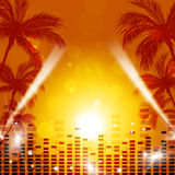 Tropical Music Background Stock Photos