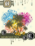 Tropical Music Disco Flyer Stock Image