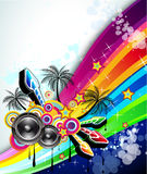 Tropical Music Event Disco Flyer Stock Image