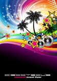 Tropical Music Event Disco Flyer Royalty Free Stock Photo