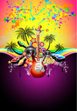 Tropical Music Event Disco Flyer Stock Photography