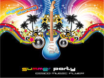Tropical Music Event Flyer Stock Images