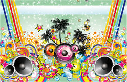 Tropical Music Flyer Royalty Free Stock Photography