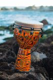 Tropical music on the rocks stock photo