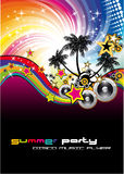 Tropical Musical Event Background. Magic Nigh Musical Event Background with Rainbow colorful Background Stock Photos