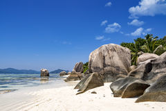 Tropical natural beach, Seychelles, La Digue island Stock Image