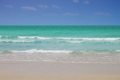 Tropical nature clear water beach. Royalty Free Stock Photo
