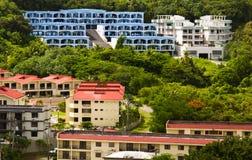 Tropical neighborhood Stock Photography