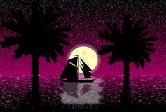 Tropical night Stock Photography