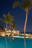 Tropical Nights I. The stars shine above the beautiful Westin resort in Los Cabos Mexico Stock Photo