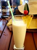 Tropical non- alcoholic Pina Colada royalty free stock photo