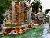 Tropical oasis waterfall Stock Photo