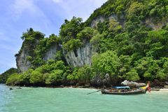 Tropical ocean koh phi phi Royalty Free Stock Images
