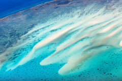 Tropical ocean from above Stock Images