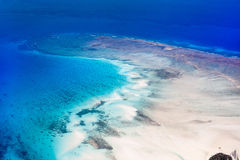 Tropical ocean from above Royalty Free Stock Photography