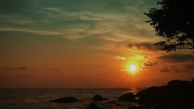 The tropical ocean coast. Tranquil landscape stock footage