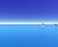 Tropical Ocean Islands Royalty Free Stock Photo