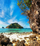 Tropical ocean landscape with Koh Tup island.Thailand Stock Photo