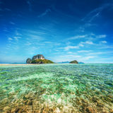 Tropical ocean landscape with Koh Tup island.Thailand Stock Image