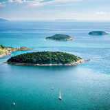 Tropical ocean landscape panorama. Thailand Stock Photo