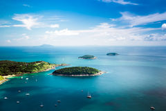 Tropical ocean landscape panorama. Thailand Royalty Free Stock Images