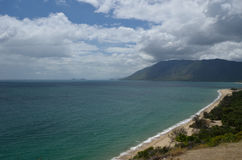 Tropical Ocean Lookout. Coastline North of Cairns. Far North Queensland. Australia Stock Photo