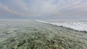 Tropical ocean. Morning on the tropical coast Stock Photography