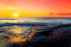 Tropical ocean sunrise Stock Image