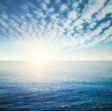 Tropical ocean sunrise royalty free stock images