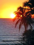 Tropical ocean sunset Royalty Free Stock Image