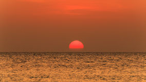 Tropical ocean sunset Royalty Free Stock Images