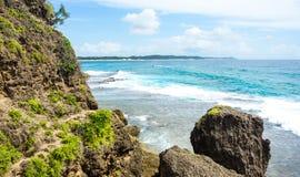 Tropical ocean view in Mozambique coastline. Tropical ocean view near Ponta do Ouro in Mozambique coastline Stock Images
