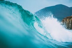 Tropical ocean water surfing swell nobody on a wave Royalty Free Stock Image