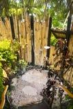 Tropical ooutdoor shower Stock Photos