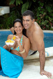Tropical orange couple. Royalty Free Stock Photos