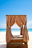 Tropical outdoor bed Royalty Free Stock Photo