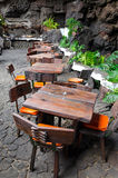 Tropical outdoor restaurant Stock Photos