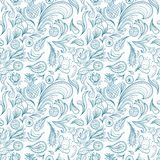 Tropical Outline Vector Pattern Stock Photography