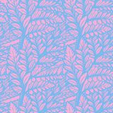 Tropical palm or fern leaves seamless pattern royalty free illustration