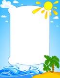 Tropical palm on island Stock Image