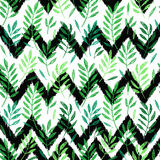 Tropical palm leaves, seamless foliage pattern Stock Photos