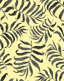 Tropical palm leaves seamless pattern royalty free illustration
