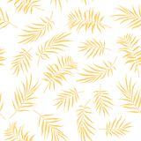 Tropical palm leaves seamless pattern on a white background. Illustration of Tropical palm leaves seamless pattern on a white background Stock Images